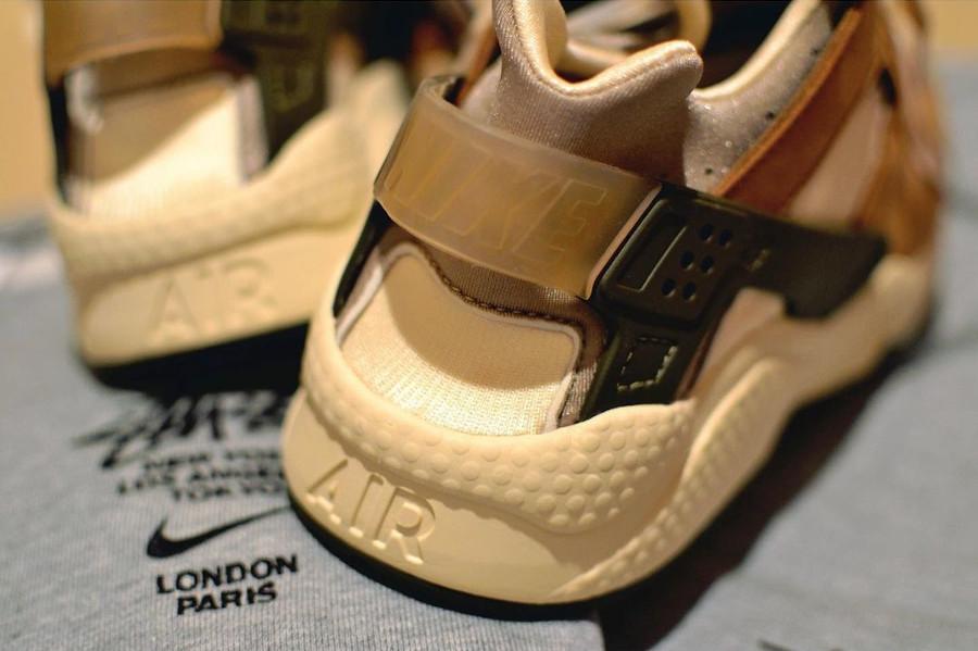 Nike Air Huarache crème et marron (7)