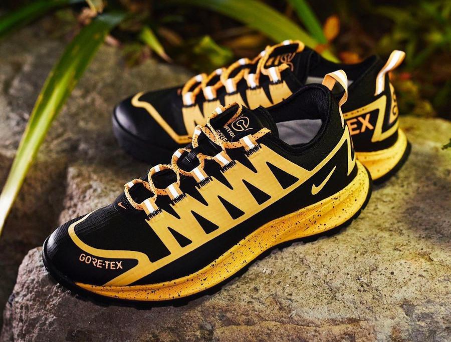 Nike Air Nasu imperméable jaune et noire (4)