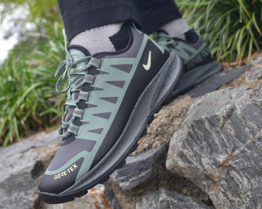 Nike Air Nasu imperméable verte et noire (3)