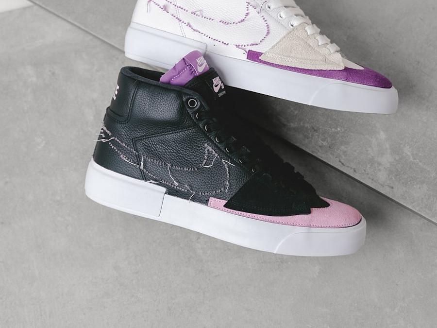 Nike Blazer SB Mid Edge 2021 noir violet et rose (1)