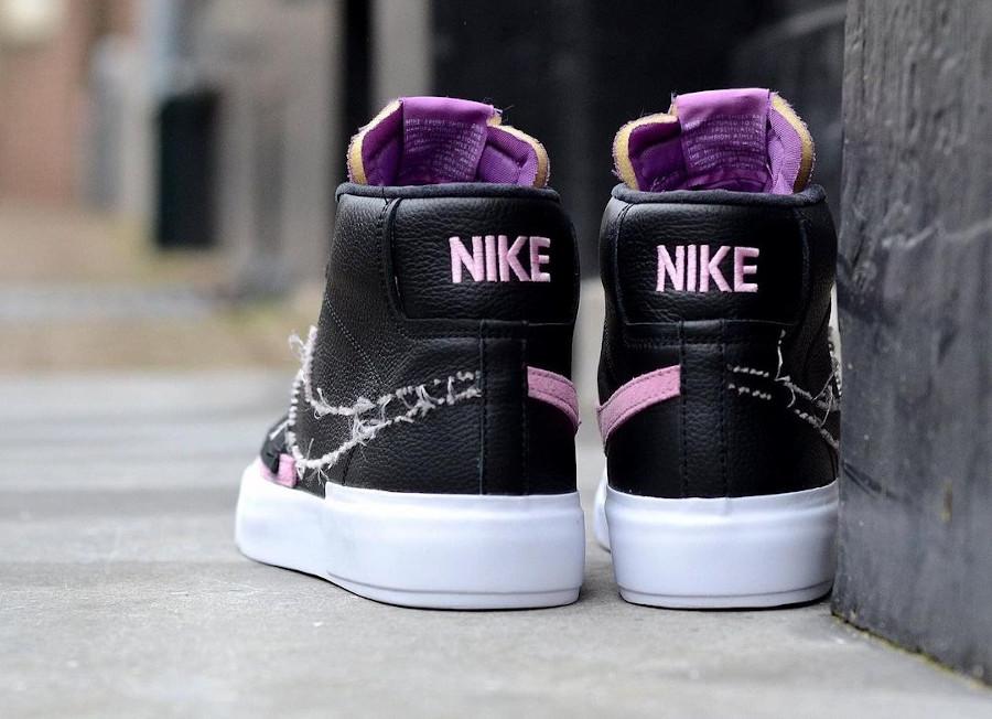 Nike Blazer SB Mid Edge 2021 noir violet et rose (2)