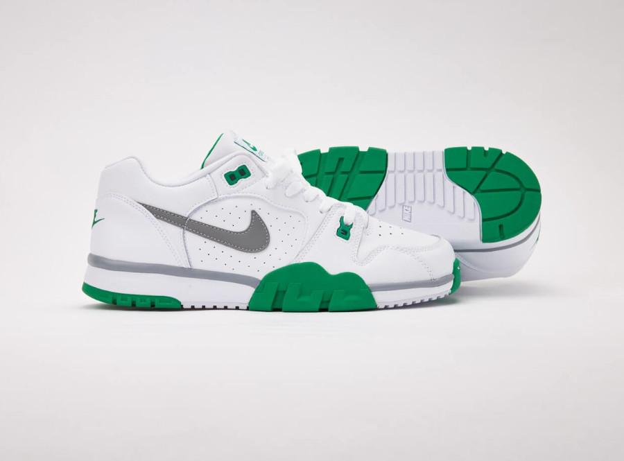 Nike Cross Trainer Lo blanche verte et grise (4)