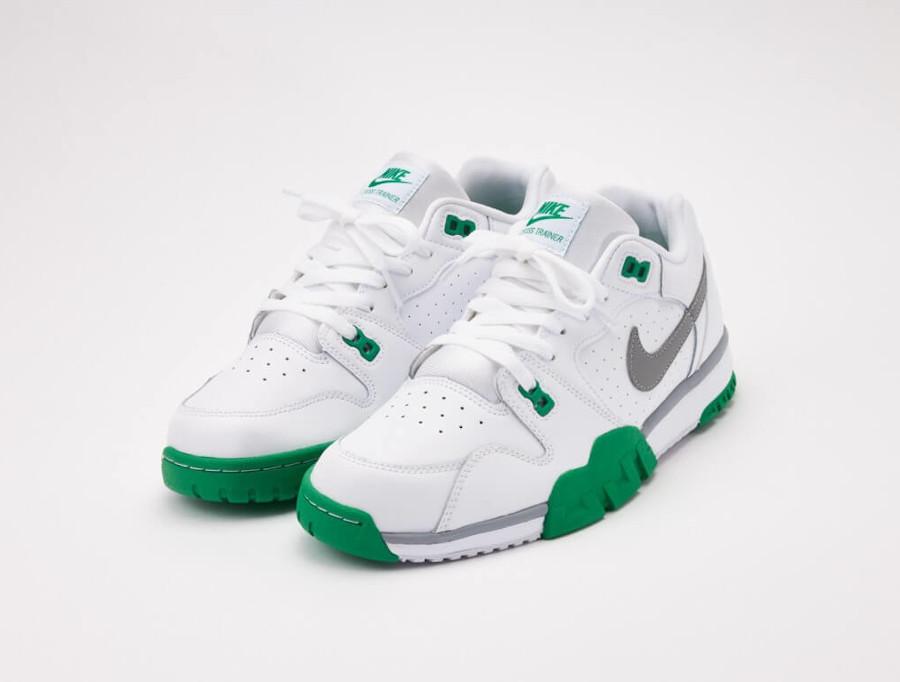 Nike Cross Trainer Lo blanche verte et grise (6)