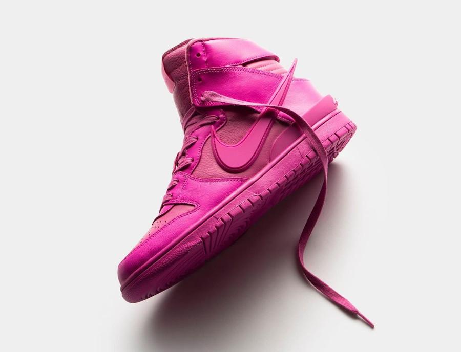 Nike Dunk Hi Ambush toute rose (1)