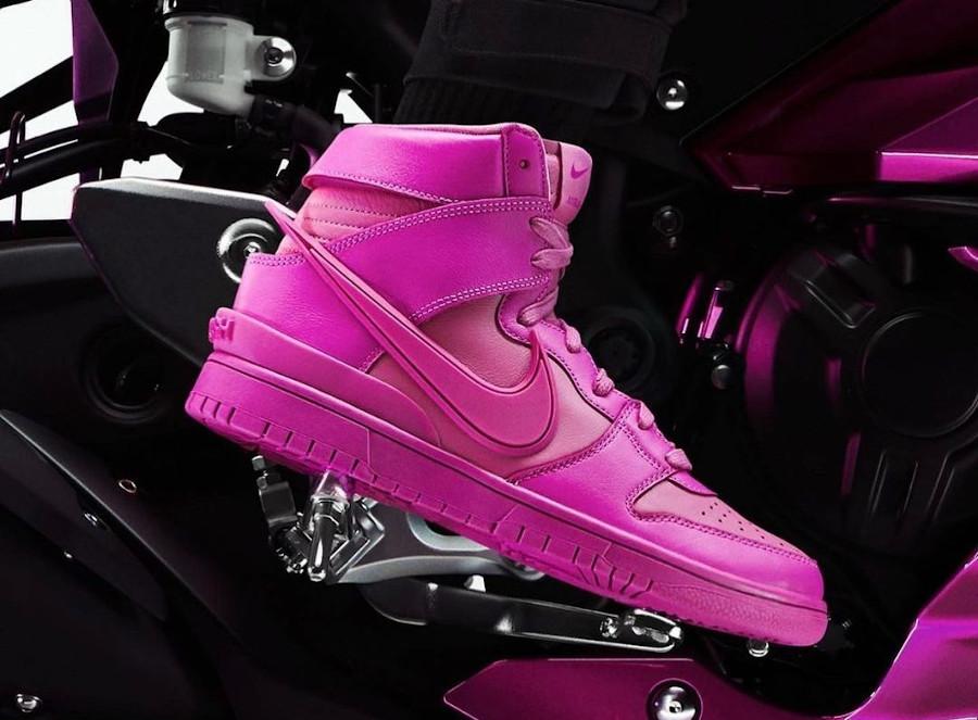 Nike Dunk Hi Ambush toute rose (2)