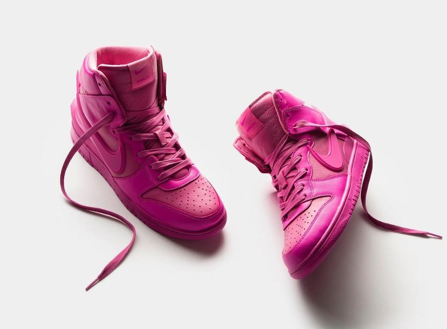Nike Dunk Hi Ambush toute rose (3)