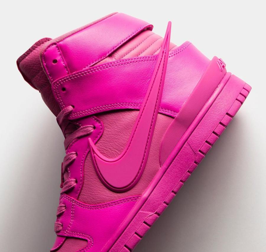 Nike Dunk Hi Ambush toute rose (4)
