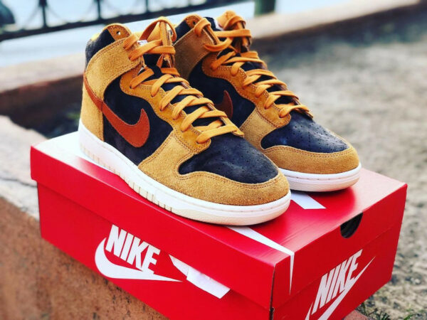 Nike Dunk High PRM Dark Curry Russet DD1401 200