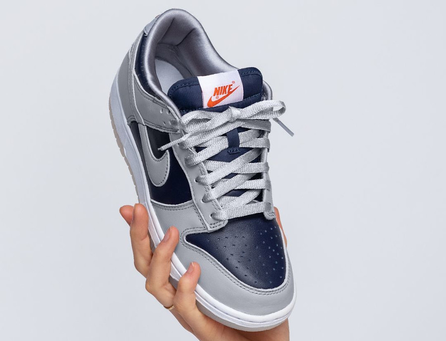 Nike Dunk Low 2021 grise et bleu marine (2)