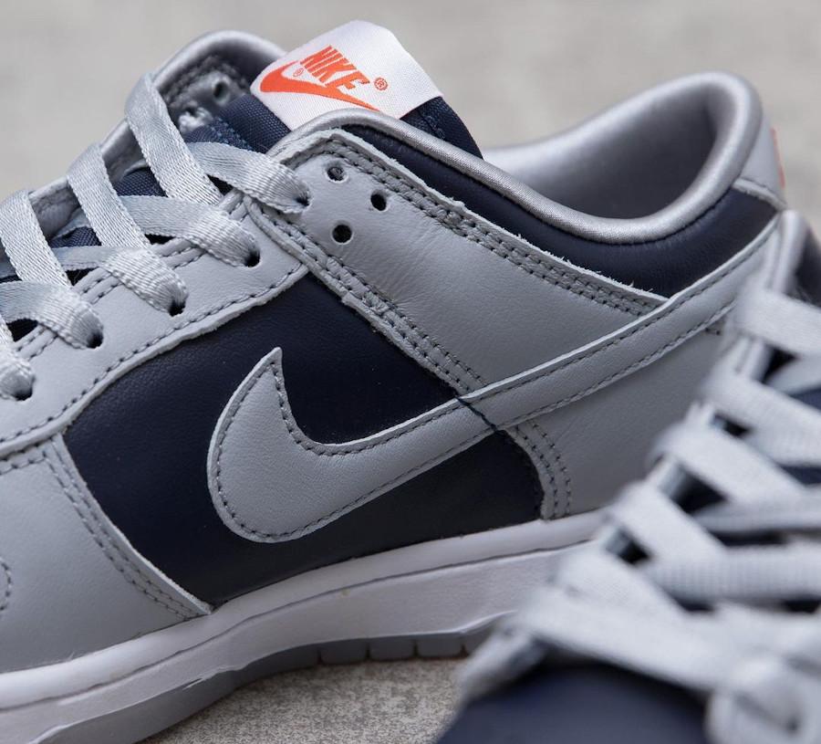 Nike Dunk Low 2021 grise et bleu marine (4)