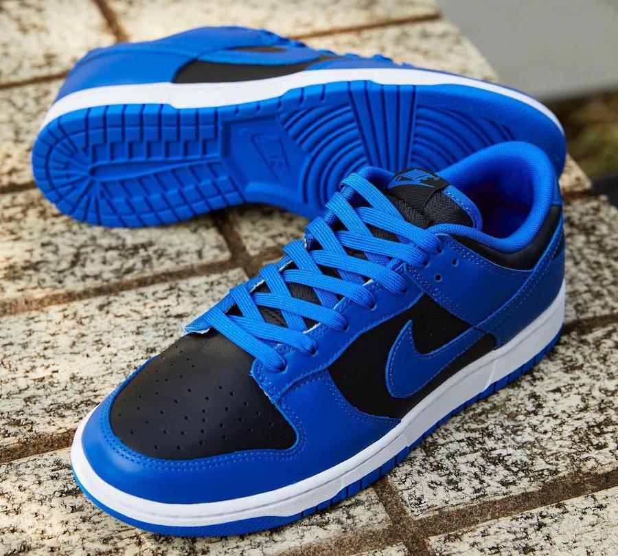 Nike Dunk Low homme noir et bleu (4)