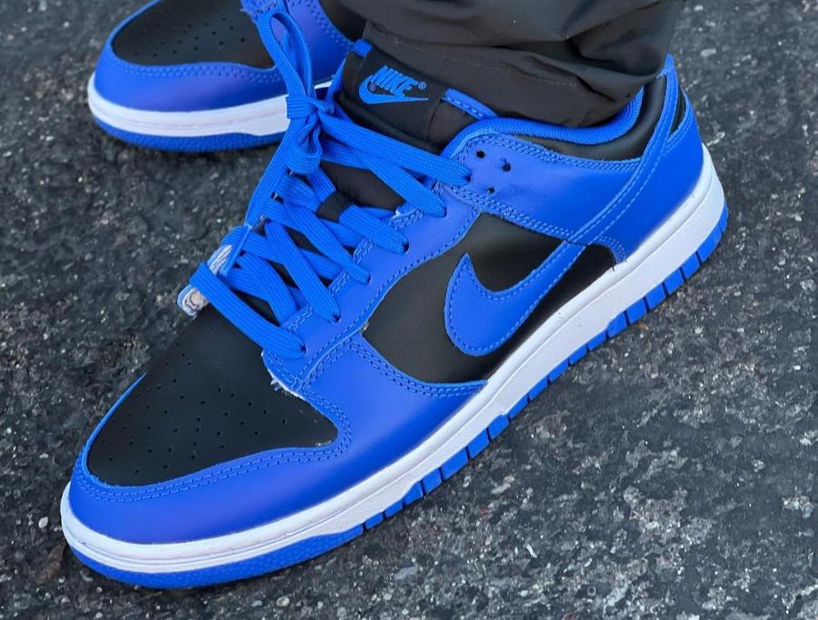 Nike Dunk Low homme noir et bleu (5)