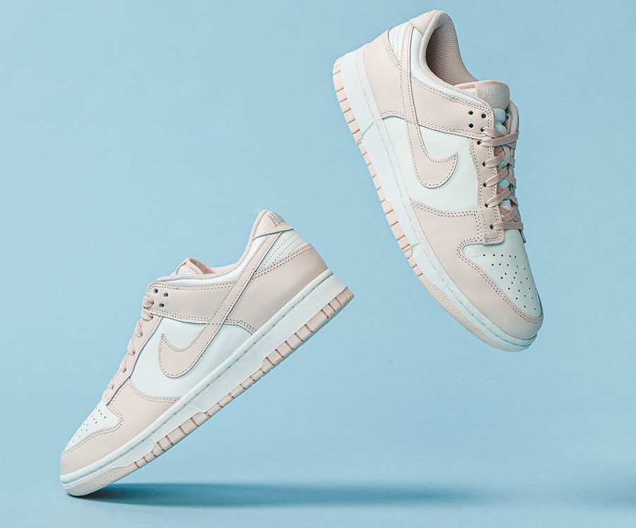 Nike Dunk basse blanche et rose pour fille (1)