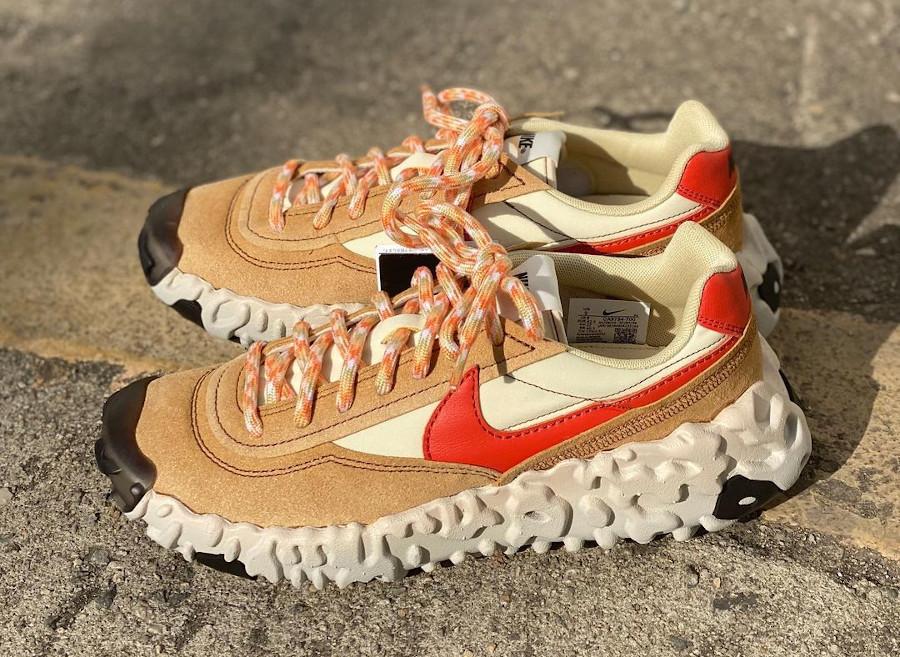 Nike Over Break marron beige et rouge (1)