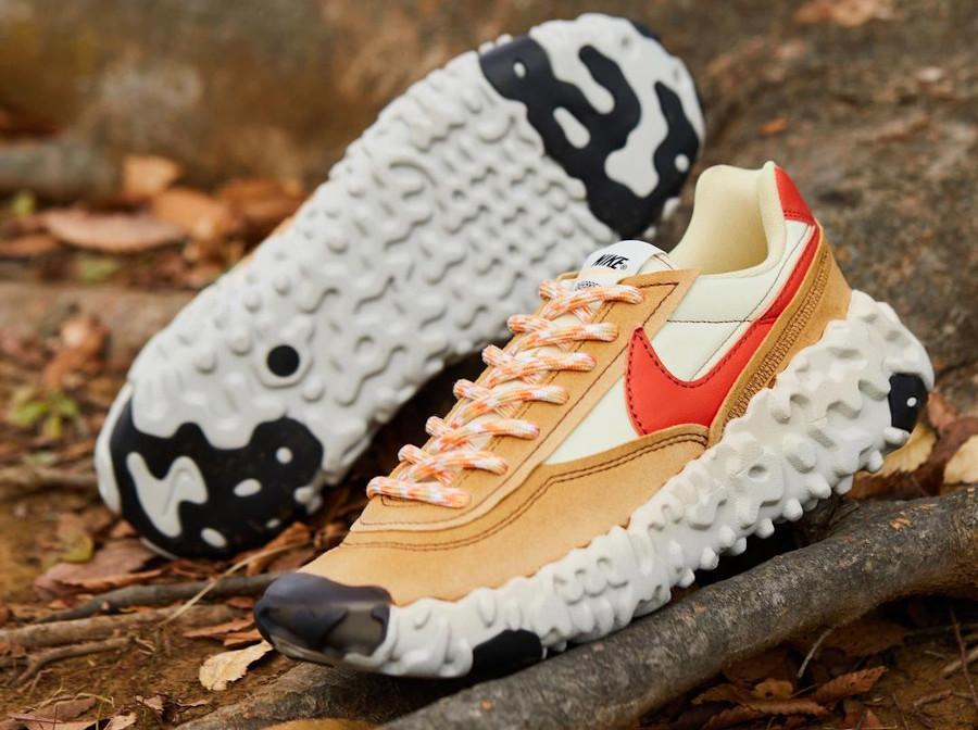 Nike Over Break marron beige et rouge (3)