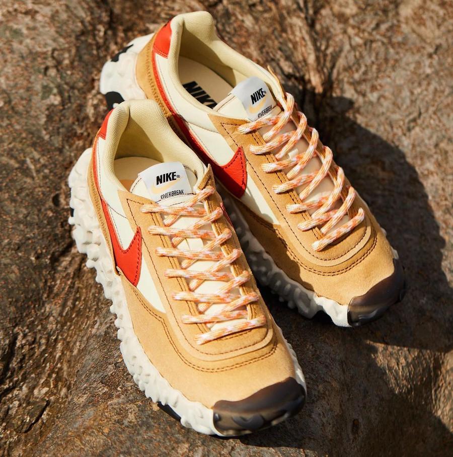 Nike Over Break marron beige et rouge (5)