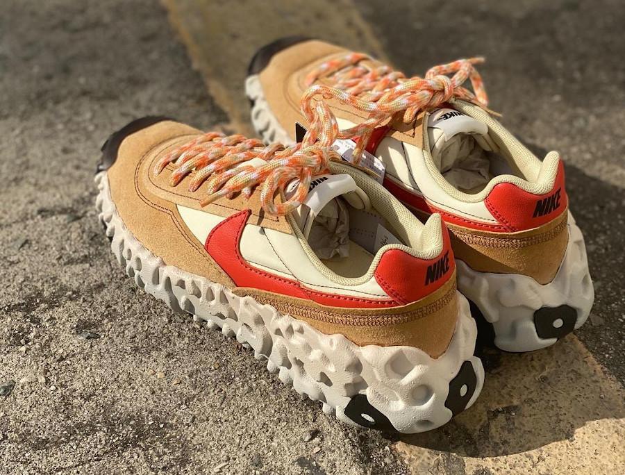 Nike Over Break marron beige et rouge (6)