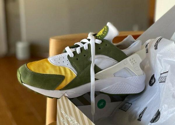 Nike x Stüssy Air Huarache Dark Olive 2021 DD1381-300