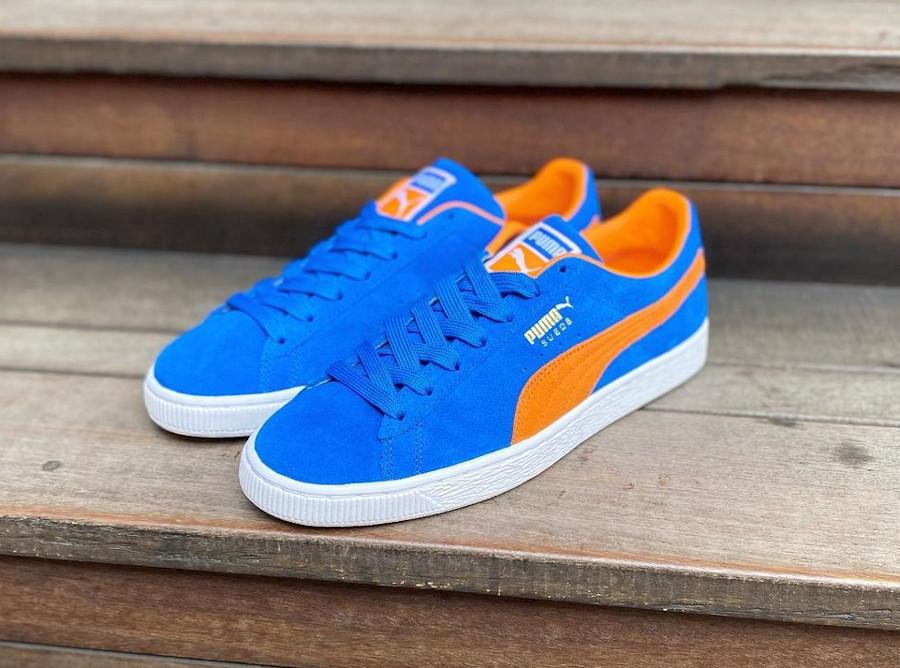 Puma Suede bleu et orange New York Knicks 380168-03 (1)
