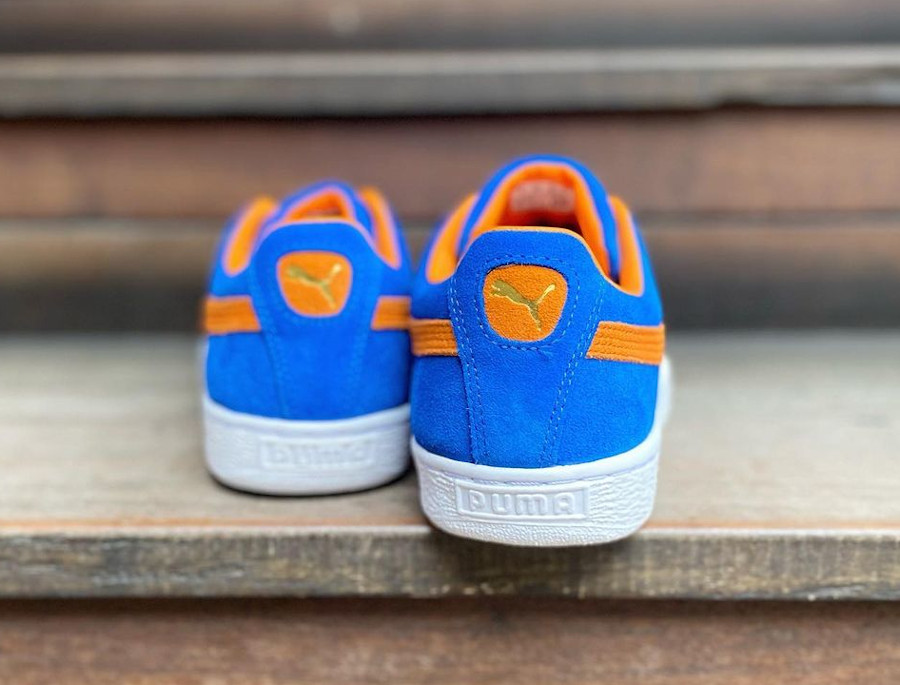 Puma Suede bleu et orange New York Knicks 380168-03 (2)
