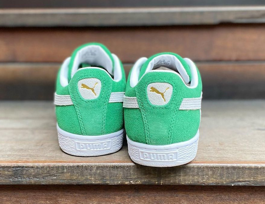 Puma Suede vert et blanche Celtics Boston 380168-02 (2)