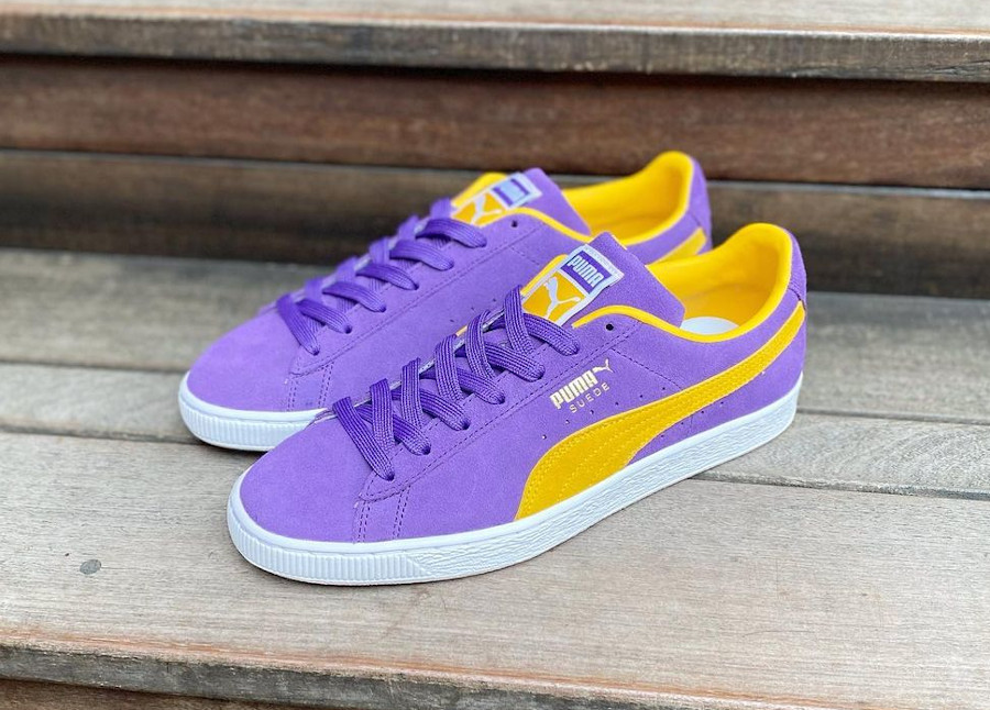 Puma Suede violet et jaune Lakers 380168-03 (2)