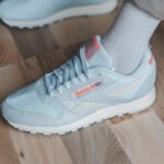 Reebok Classic Leather Split Chalk Blue Orange Flare