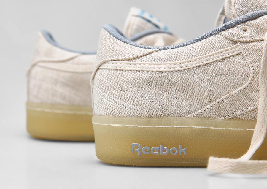 Reebok Club C 85 en tissu organique gris et beige (6)