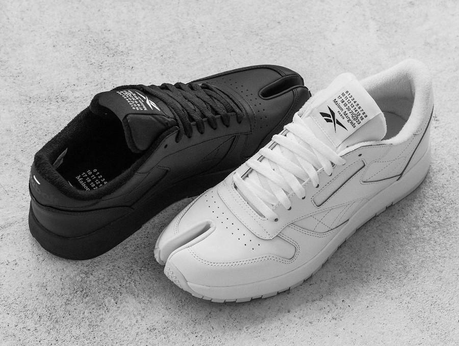 Reebok x MM CL Leather Tabi Project 0 White Black