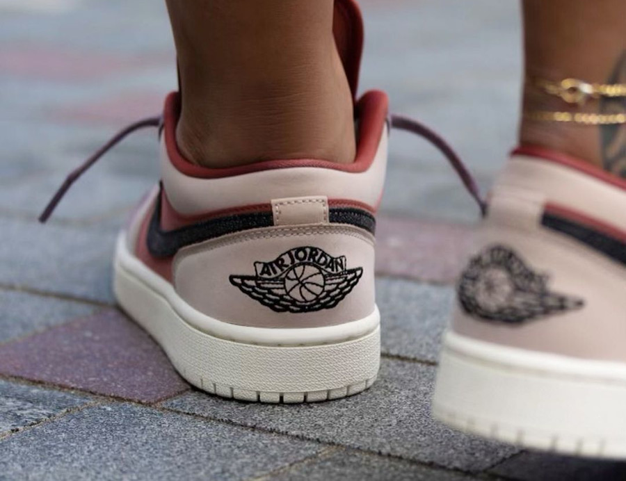 Women's Air Jordan 1 Low rose beige et violet (3)