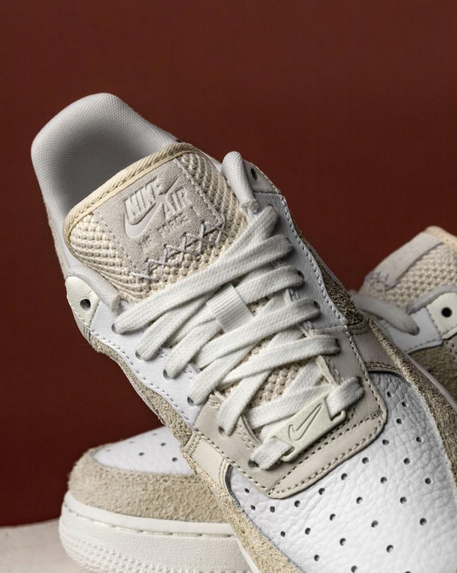Women's Nike AF1 2021 blanche beige et crème (1)
