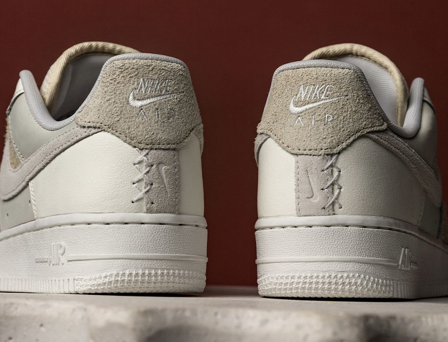 Women's Nike AF1 2021 blanche beige et crème (3)