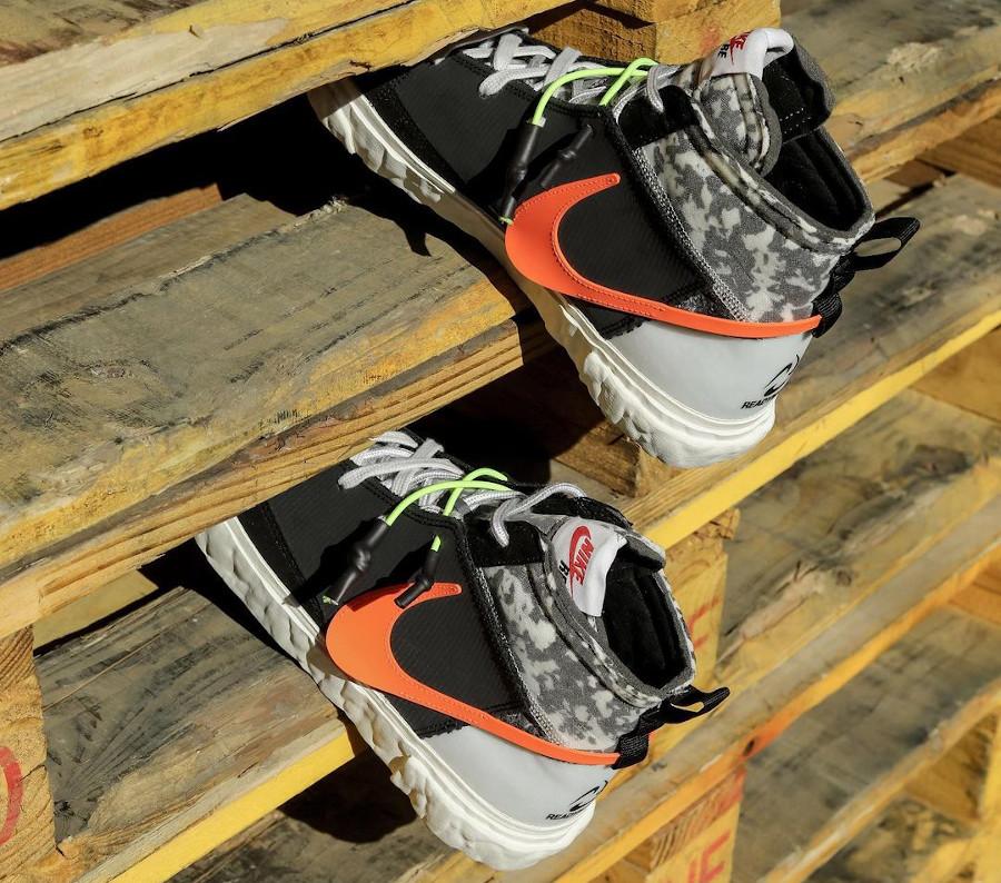 Yuta Hosokawa x Nike Blazer Mid noire blanche mandarine et vert fluo (1)