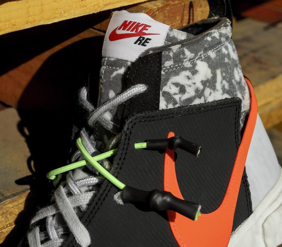 Yuta Hosokawa x Nike Blazer Mid noire blanche mandarine et vert fluo (3)