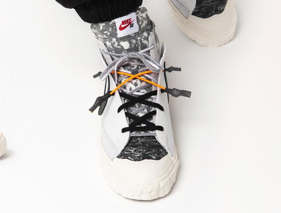 Yuta Hosokawa x Nike Blazer mi-montant blanche et noire (2)