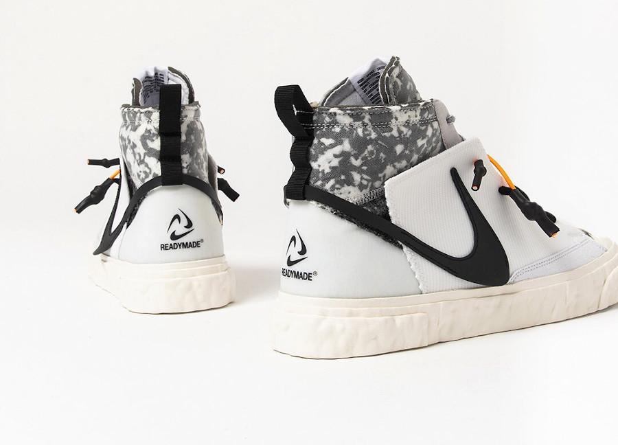 Yuta Hosokawa x Nike Blazer mi-montant blanche et noire (3)