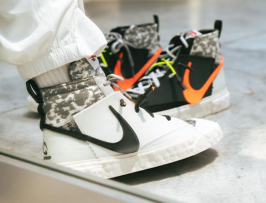 Yuta Hosokawa x Nike Blazer mi-montant blanche et noire (4)