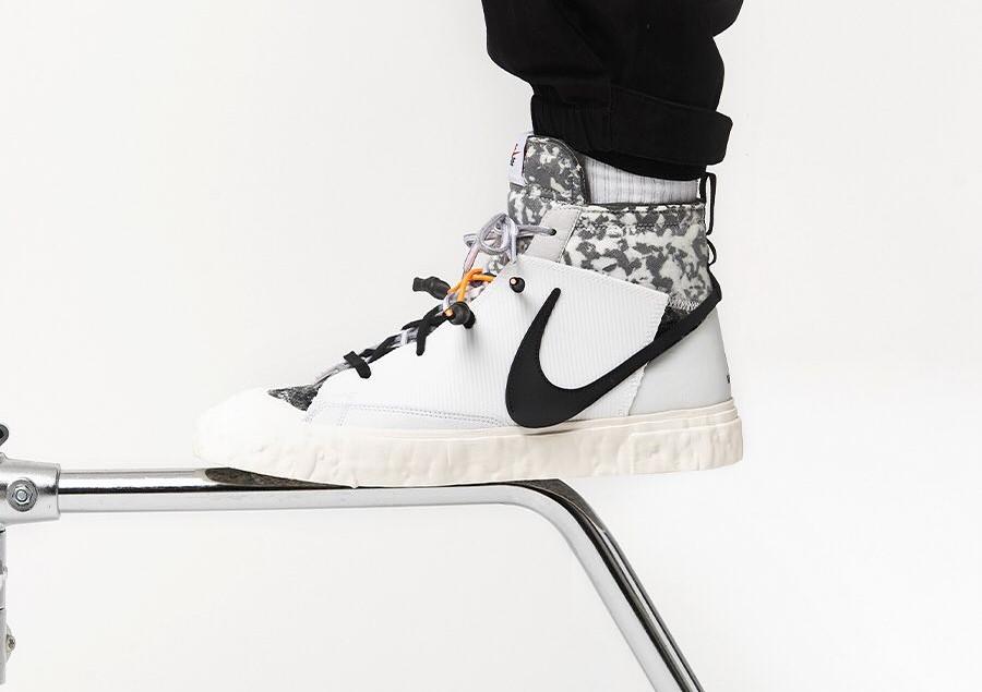 Yuta Hosokawa x Nike Blazer mi-montant blanche et noire (5)