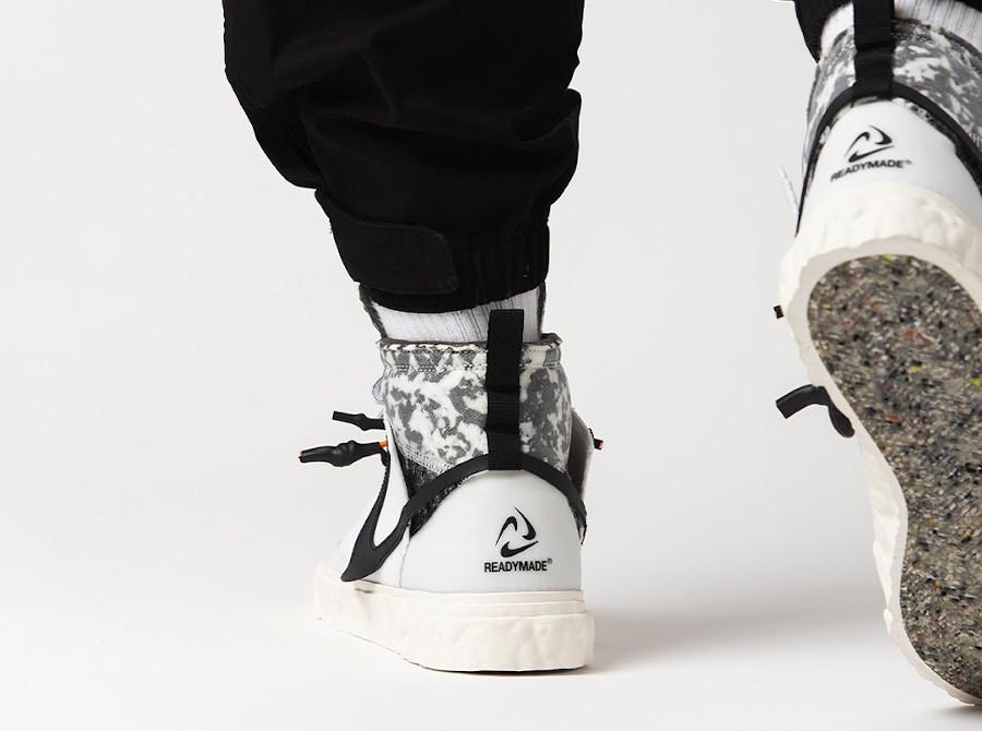 Yuta Hosokawa x Nike Blazer mi-montant blanche et noire (6)