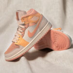 Women's Air Jordan 1 Mid Apricot Orange