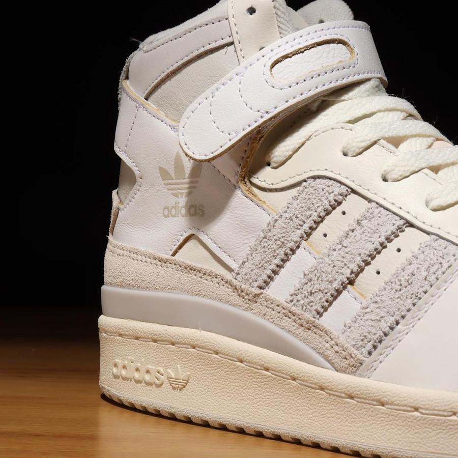 Adidas Forum 84 High blanc cassé et grise (4)