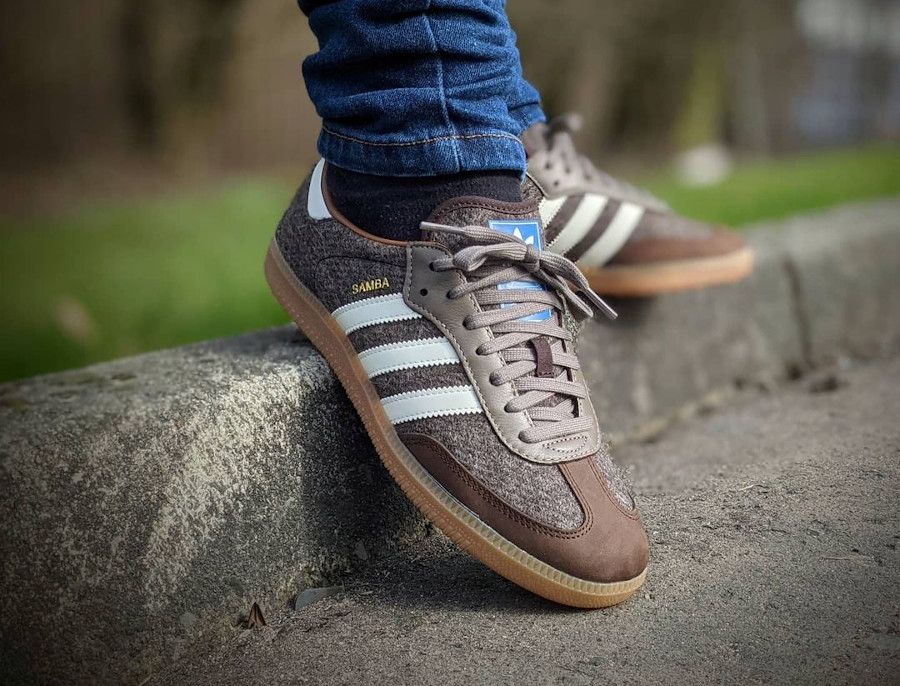 Adidas Samba Fox 1772 Dark Simple Brown Wool H04942