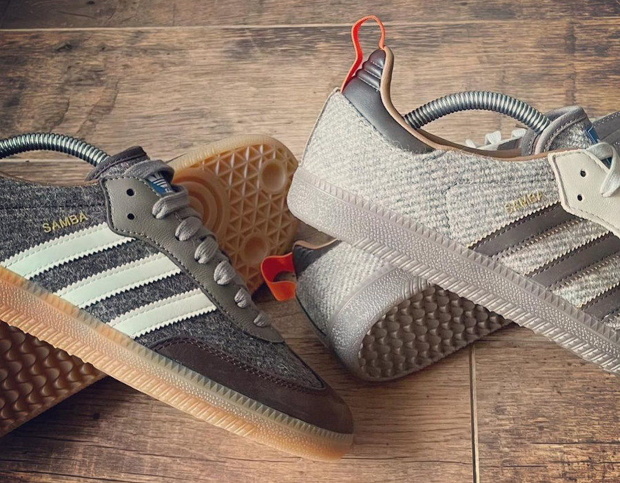 Adidas Samba en laine marron 2021 (2)