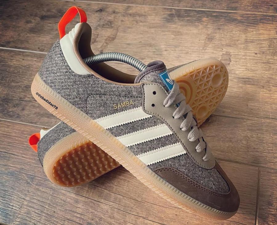Adidas Samba en laine marron 2021 (3)