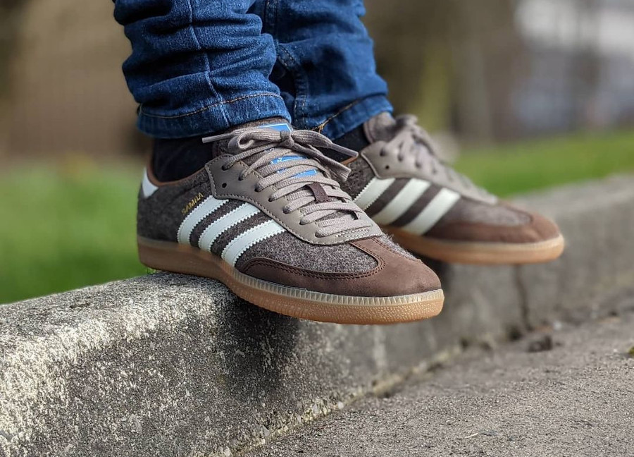 Adidas Samba en laine marron 2021 (4)