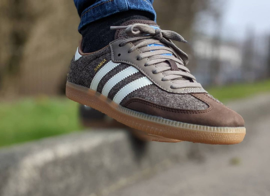 Adidas Samba en laine marron 2021 (5)