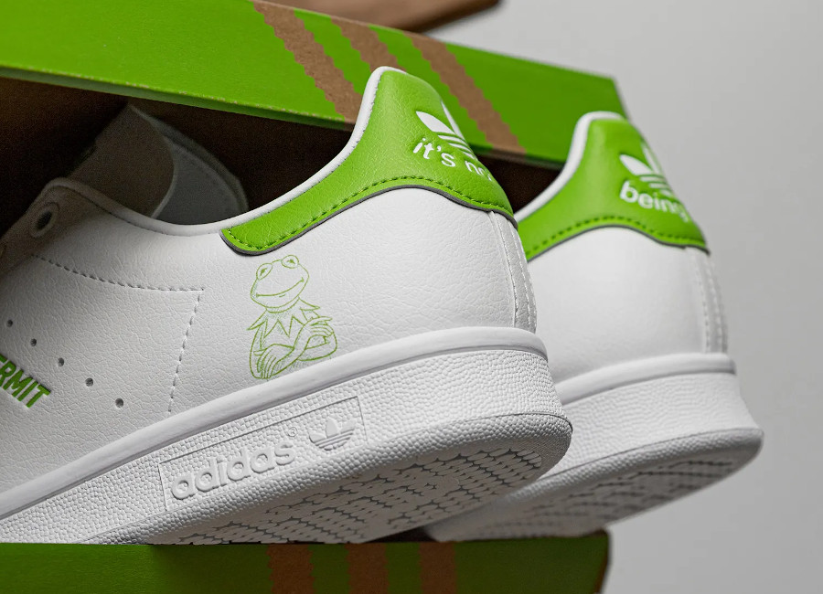 Adidas Stan Smith recyclée it's not easy being green FX5550 (1)