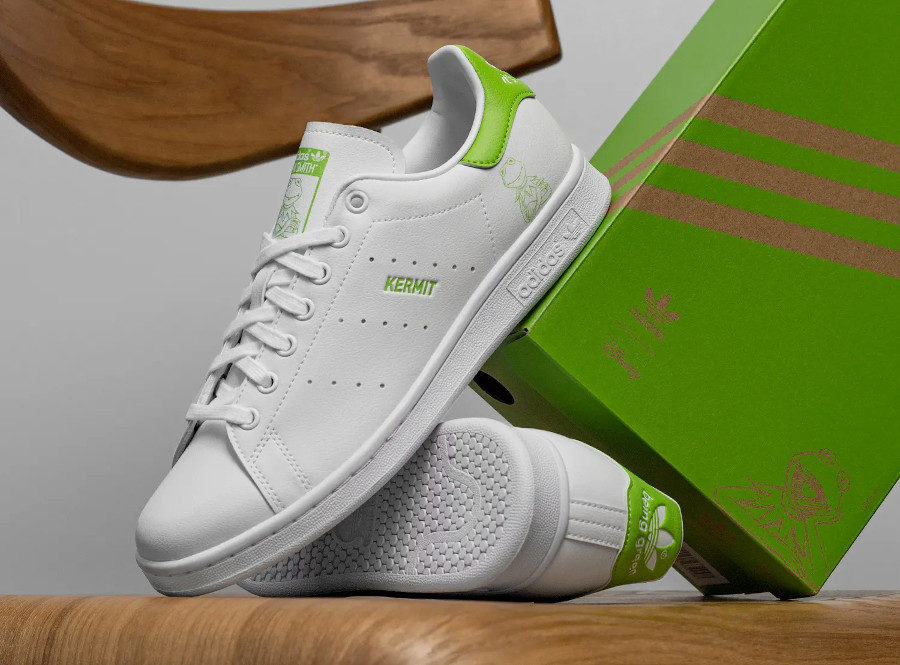 Adidas Stan Smith recyclée it's not easy being green FX5550 (2)