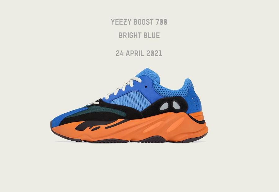 Adidas Yeezy Boost 700 Bright Blue date de sortie