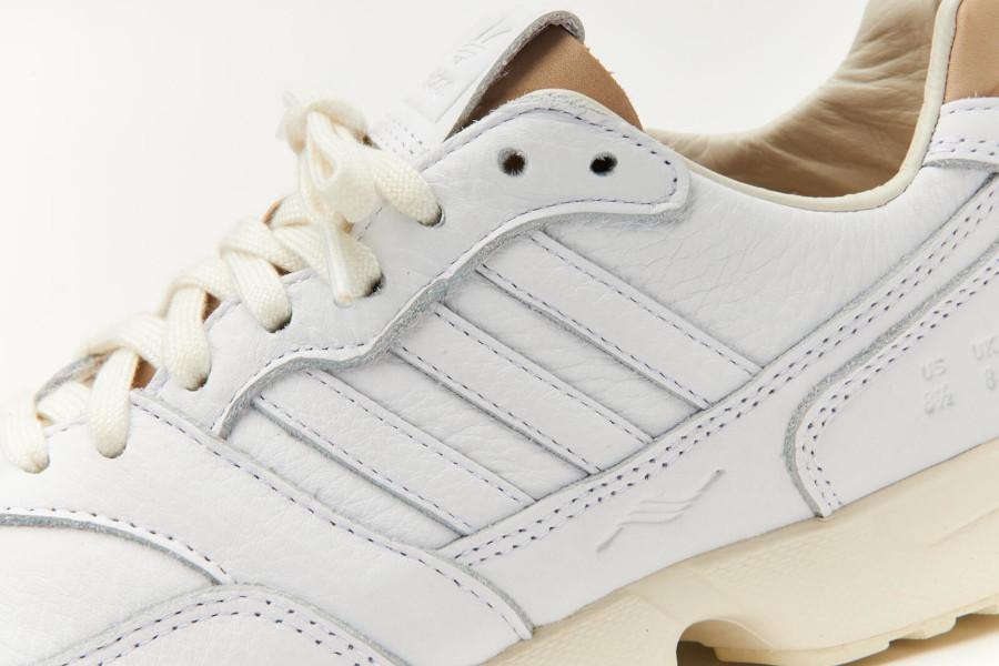 Adidas ZX 1000 en cuir prm blanc et beige (5)